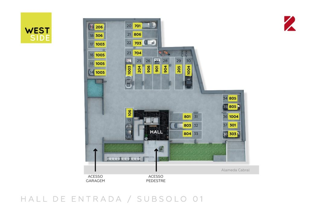 Hall de entrada, Subsolo